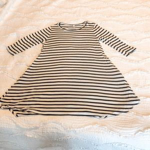 Striped Boutique Dress 3/4 sleeves pockets